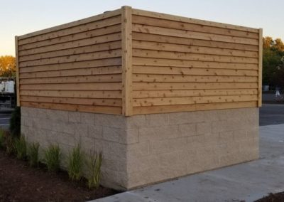 custom dumpster enclosures, dumpster fencing, dumpster fence,fencing contractors, fences company, fencing companies near me, fencing installers, Gates & fencing