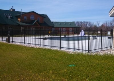 Ornamental Aluminum fence, black iron fence, chain link fence contractors near me, family fence company, precision fence